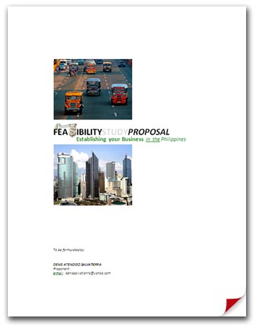 feasibility study on rice business in the philippines Economic and technical feasibility study  characteristics not found in other types of business organization a coopera-  countries like the philippines .