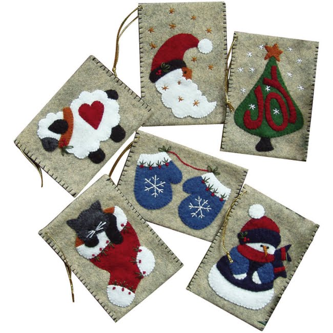 Christmas Felt Decorations Patterns: Crafts And Handicrafts In Anticipation For Christmas