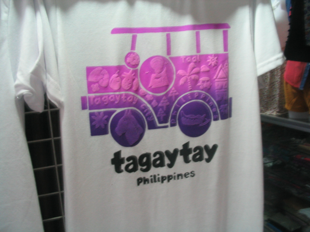 souvenir shirts and snack delicacies from tagaytay