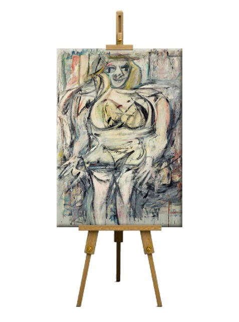 5 Woman III by Willem de Kooning (period of 1951 to 1953)