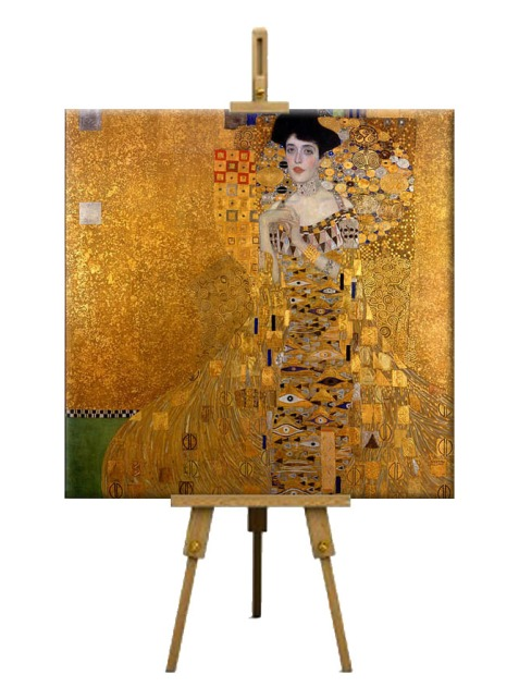 6  Portrait of Adele Bloch Bauer I by Gustav Klimt (Jewish-owned art rescued from the Nazi looting Second World War)