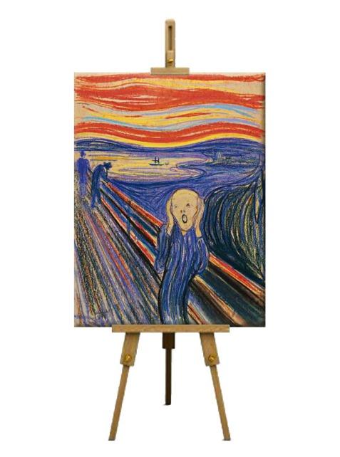 7  The Scream by Edvard Munch (1895)