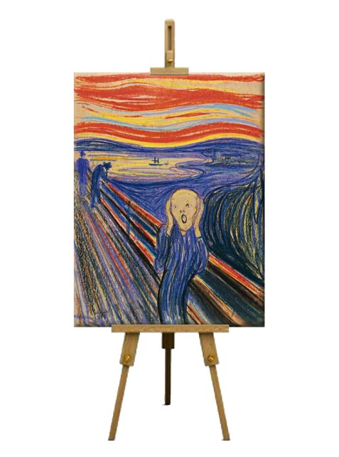 7  The Scream by Edvard Munch (1895)