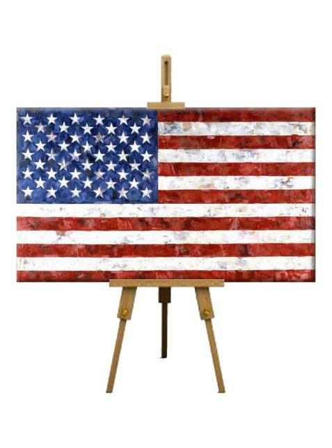 8  Flag by Jasper Johns (1958)