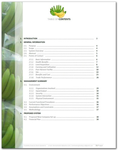 Feasibility Study Cavendish Banana - page 2