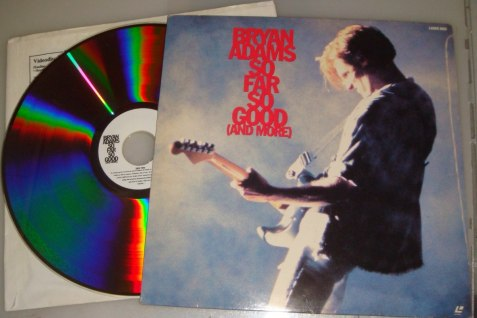 1. Bryan Adams - So far so good video Laser Disc