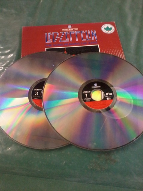 3. Led Zeppelin double album - The song remains the same Album cover Laser Disk